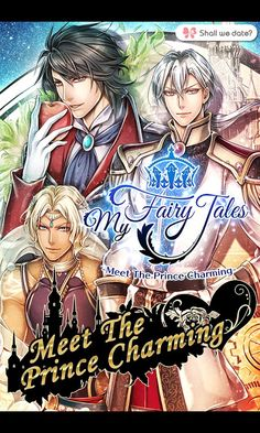 The three main bishonen of Shall we date?: My Fairy Tales.
