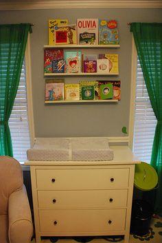 book shelf, and yellow dresser :)
