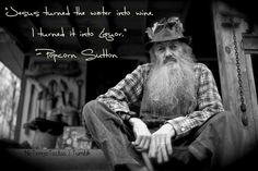 "Mountain Man, Popcorn Sutton ~ Moonshine  www.LiquorList.com ""The Marketplace for Adults with Taste!"" @LiquorListcom   #LiquorList.com"