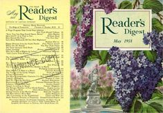 Readers Digest, Lilacs, Mini Books, Vintage Art, Cover, Illustration, Home, Miniatures, Naturaleza