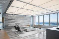 Travertine Backdrops Ludwig Mies van der Rohe's Chairs