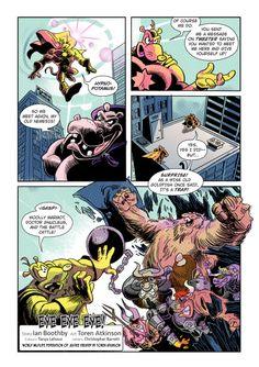 "Page 2 of ""Eye Eye Eye"" comic. Published in Mega-Fauna anthology by Cloudscape Comics World Wildlife Federation, Comic Books, Eye, Superhero, Comics, Cartoons, Cartoons, Comic, Comic Book"