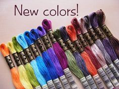 New DMC Thread Colors – a Finished Stitches Prize!