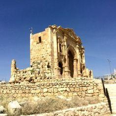 Jerash ruinas de Jordania - una vez una gran ciudad romana