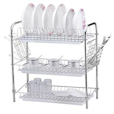 Dazone 3 tier Dish Drying Rack Drainer Dryer Tray Kitchen Drying Drainer Storage System DAZONE http://www.amazon.com/dp/B00WVUZON0/ref=cm_sw_r_pi_dp_zNVYvb0WVE9QK
