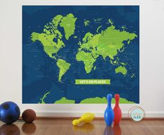 World Map Decal,
