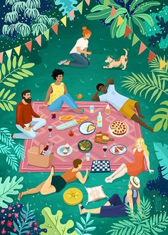 People Illustration, Graphic Design Illustration, Art And Illustration, Summer Cartoon, 2d Art, Illustrations And Posters, Character Design, Art Prints, Drawings
