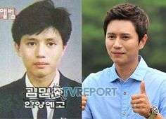 Kim Min-jong's graduations pictures were revealed on an online community site with the title, 'Kim Min-jong graduation pictures'. These are pictures of him from the Anyang Arts High School. Kim Min-jong is nicely dressed in his uniform. Although his hair is outgrown and messy, his clear features show how pure he was. He also looks the same now as he did then.