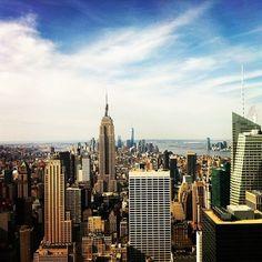 Top Of The Rock by newyorkmonti Go To New York, New York City, Nyc Skyline, I Love Ny, Chrysler Building, City That Never Sleeps, Concrete Jungle, City Break, Central Park