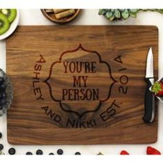 Personalized You're My Person Best Friend Cutting Board