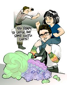 kunehos:   Hermann: Newt, you do realize this violates virtually all safety proto- Newt: Dude, this kid's gonna be a rockstar one day, okay? Might as well start treating her like one.  my favorite pacific rim headcanons consist of kid mako growing up and hanging around the lab with these two dorks