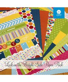 The Look on the Bright Side Paper Pack includes 12 sheets of double-sided papers - 6 unique designs featuring tone-on-tone on one side and designer on the other side. Beautiful! #CreativeMemories