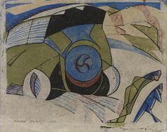 Claude Flight (British, 1881-1955)  Paris Omnibus (Coppel CF 10) Linocut