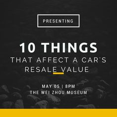 10 Things That Affect a Car's Resale Value! Pollard Pre-Owned Blog Post.