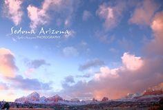 Sedona snow red rock