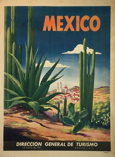 Mexico 1950 original lithographic advertisement by Magallon.
