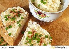 Tvarůžková pomazánka (dle kluků v akci) recept - TopRecepty. No Salt Recipes, Potato Salad, Mashed Potatoes, Dairy, Treats, Cheese, Ethnic Recipes, Fit, Invite
