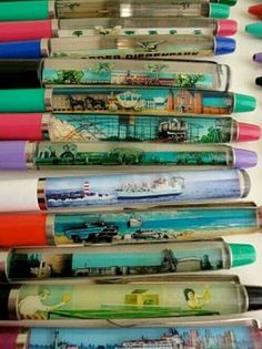 vintage souvenir novelty pens - my dad had one where if you tilted it, the woman's clothes came off. 90s Childhood, My Childhood Memories, Sweet Memories, Retro Vintage, Vintage Toys 1970s, Retro Toys, 90s Nostalgia, 80s Kids, My Memory