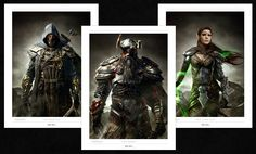 Official lithographs for The Elder Scrolls Online. PAX East 2013 exclusives.