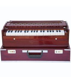 SG Musical Folding Harmonium Rosewood Coupler Free Padded Gig Bag