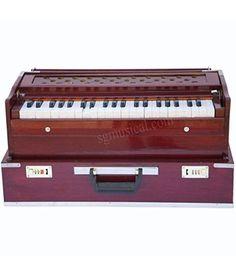 SG Musical Folding Harmonium Rosewood Coupler Free Padded Gig Bag