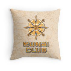 Kunai Club by enriquev242 #naruto #anime #manga #kunai #weapon #emblem #hokage #shippuden #sakura #kakashi #sasuke #ninja #oriental #japan #club #grunge #otaku #geek #tshirt #redbubble #pillow