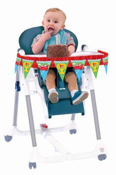 Disney 1st Birthday Cars High Chair Decorating Kit, 86224