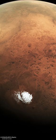 Mars_south_pole_and_beyond R Terre Lune La Planete Mars Planete Naine Espace Univers Solaire