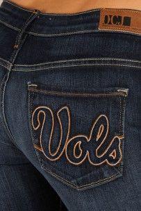 Tennessee Volunteers Vols Skinny Jeans in Deep Indigo