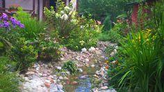 strumyk w ogrodzie
