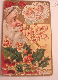 Vintage Christmas Postcard with Santa and by NeatstuffAntiques, $45.00