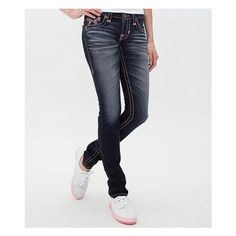 Big Star Vintage Liv Skinny Stretch Jean ($108) ❤ liked on Polyvore featuring jeans, blue, super low rise skinny jeans, stretch skinny jeans, skinny leg jeans, zipper skinny jeans and frayed skinny jeans