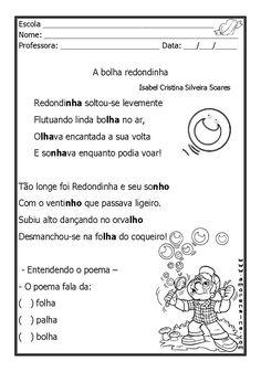 Alfabetizar com AMOR: A BOLHA REDONDINHA - TRABALHANDO NH / LH - 1º ANO/ 2º ANO