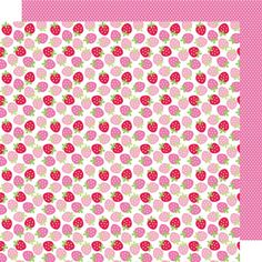 Doodlebug Design - Sweet Cakes Collection - 12 x 12 Double Sided Paper - Berry Sweet at Scrapbook.com