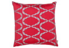This bold and bright Pomegranate silk cushion with honeycomb pattern is ideal if you want to give your home a lively and contemporary touch this holiday. Made with pure mulberry silk, this exquisite silk cushion defines sheer luxury and nothing less. This is a perfect gift for any close friend or relative.