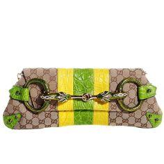 e9f1fb4a4d6 Gucci Tom Ford Ss 2004 Xl Gg Monogram Jeweled Snake Head Bag
