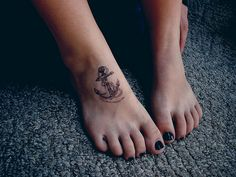 anchor tattoo on foot
