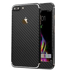 iPhone 7 Plus Sticker Toeoe Luxury 3D Textured Carbon Fibre Decal Skin Fast Ship #Toeoe