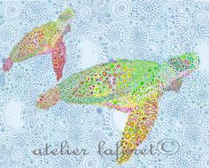 turtle art from Etsy...Love