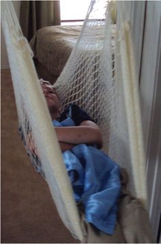 I can't believe I never thought of this - A hammock in his room! Those OT swings are a lot of money, great idea!! Sensory friendly Gifts for Kids with Autism
