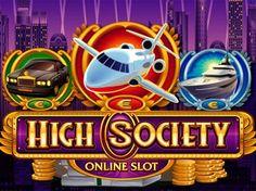 Игровой автомат High Society на деньги.  Картинки, символизирующие настоящую роскошь, представлены на игровом автомате High Society на деньги с выводом. Тут игроки встретятся с деньгами, золотыми и серебряными слитками, а также автомобилями, яхтами и самолетами, которые мо