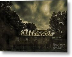 Dark Metal Print featuring the photograph Dark Abandoned Barn by Jorgo Photography - Wall Art Gallery