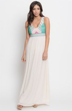Embroidered Maxi Dress | Jane