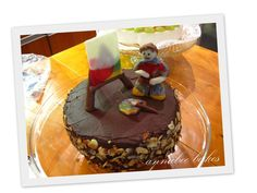 Painter chocolate cake