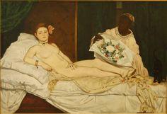 Olympia | oil  painting, 1863 | Édouard Manet -----  Musée d'Orsay, Paris.