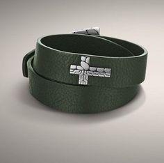 John Hardy Kali Collection Leather Double Wrap Bracelet With Cross Accent Silver in Bracelets   eBay #johnhardy #shoptheworld #ebay