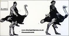 Ostrich Lino Print
