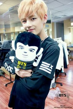 BTS | V and his look alike doll<3
