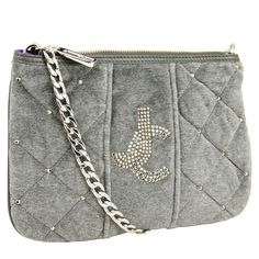 Juicy Couture  Velour Quilted Louisa Crossbody-Grey