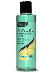 New Assure Deep Cleanse Shampoo effectively rinses away dirt and impurities. It gives required amount of moisture to the hair leaving them healthy and supple. It helps to manage excessive oil secretion from the scalp and leaves the hair fresh and bouncy. Hair Loss Causes, Prevent Hair Loss, Deep Cleansing Shampoo, Oily Scalp, Hair Spa, Healthy Hair Growth, Cleanse, Herbalism